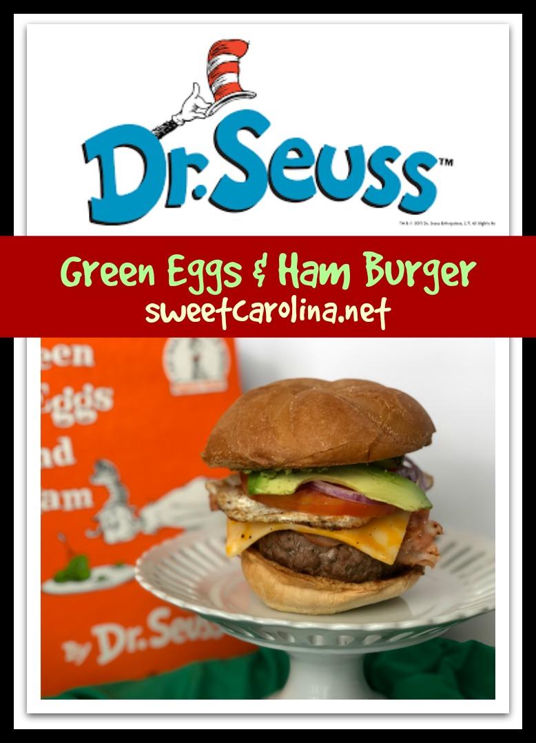 Sweet Carolina Green Eggs and Ham Burger