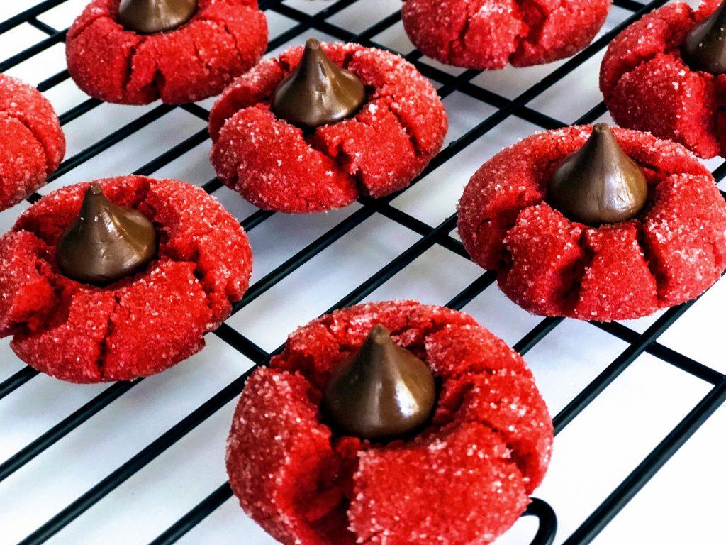 Sweet Carolina Red Velvet Peanut Butter Blossoms