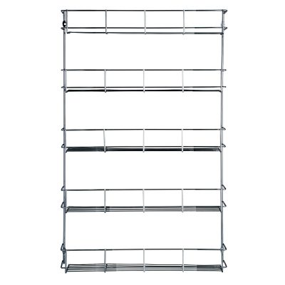 VonShef 5 Tier Spice Rack Organizer Chrome Plated For Herbs and Spices