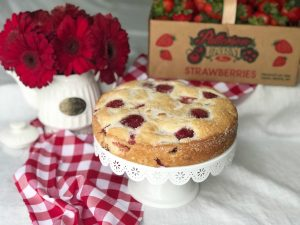 English Strawberry Tea Cake